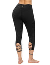 Criss Cross High Waist Cropped Yoga Leggings - Blooming Jelly
