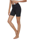 Blooming Jelly_7 Inches High Waisted Casual Biker Shorts_Black_257104_02_Women Sportswear High Rise Gym Clothes_Bottoms_Shorts