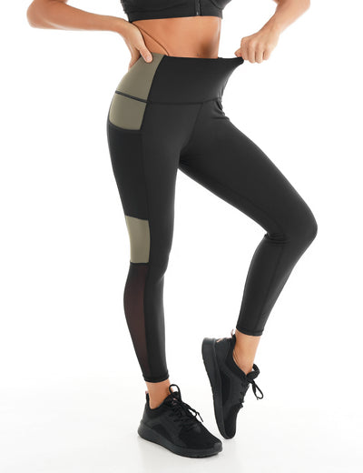 Blooming Jelly_Mesh Panel Color Block Workout Leggings_Contrast Color_257227_02_Women Athletic Comfy Outfits_Bottoms_Leggings