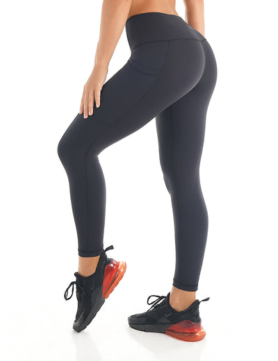 Blooming Jelly_Fitness High Waist Training Leggings_Black_257245_02_Women Athletic High Elascity Workout_Bottoms_Leggings
