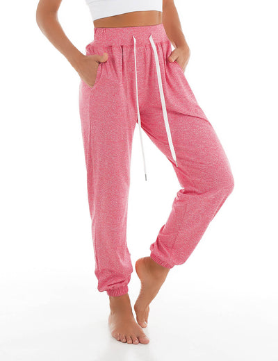 Blooming Jelly_Loose Pajama Pants Casual Joggers_Pale Violet Red_257254_17_Women Sportswear Gym Clothes_Bottoms_Joggers