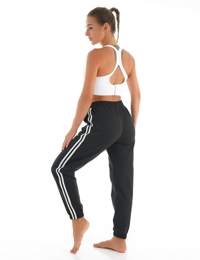 Blooming Jelly_Fitness Sweatpants Training Joggers_Black_257258_02_Women Sportswear Gym Clothes_Bottoms_Joggers