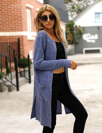 Blooming Jelly_Chic Open Front Thin Cardigan_Navy Blue_292072_03_Transitional Season Women Casual_Tops_Cardigan