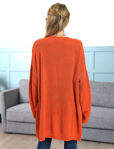 Blooming Jelly_Warm Orange Open Front Cardigan_Orange_295010_29_Women Casual Outfits_Tops_Cardigan