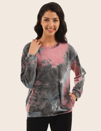 Show Your Personality Tie Dye Sweatshirt - Blooming Jelly