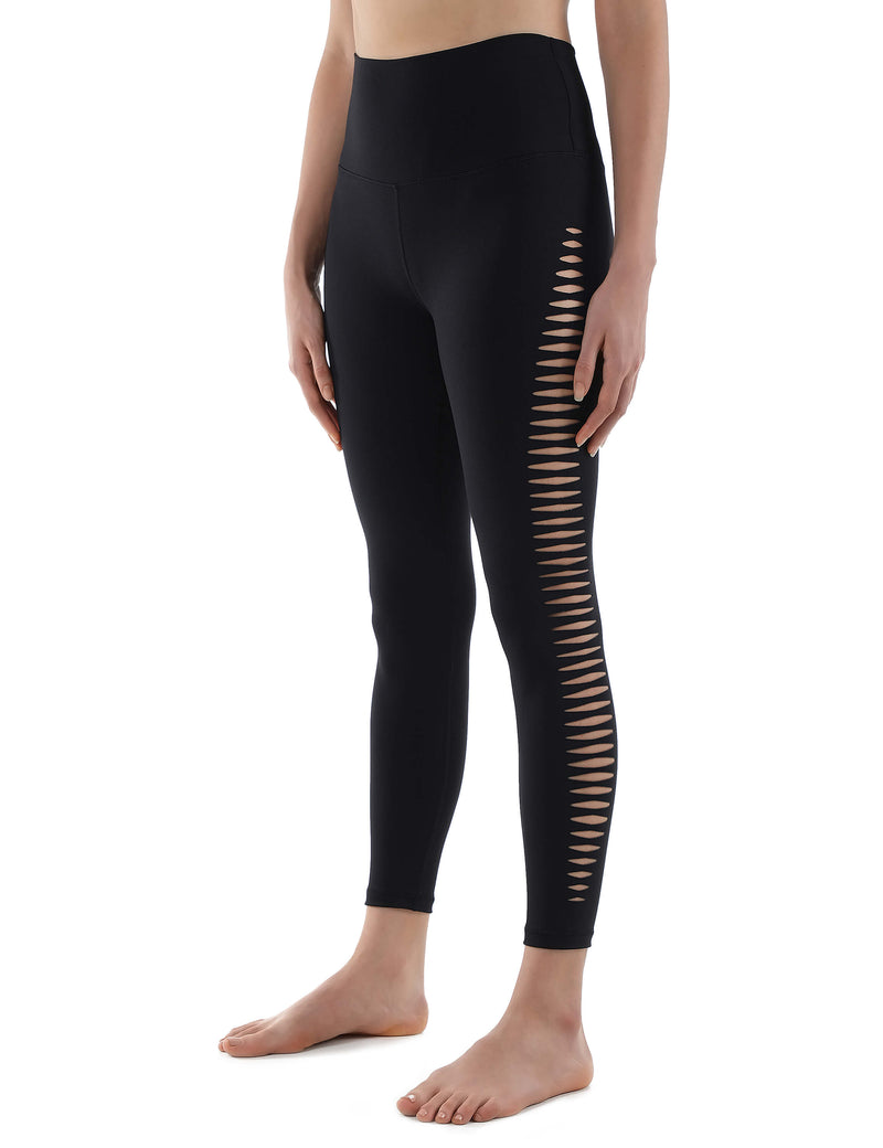 Side Cut Out High Waist Yoga Leggings - Blooming Jelly