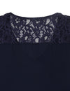 Chic V Neck Lace Zipper Top Workout Tee - Blooming Jelly