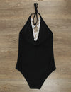 Blooming Jelly_Halter Lace Patchwork One Piece Swimsuit_Black_112137_49_Summer Vacay Halter Lace_Swimsuit One Piece