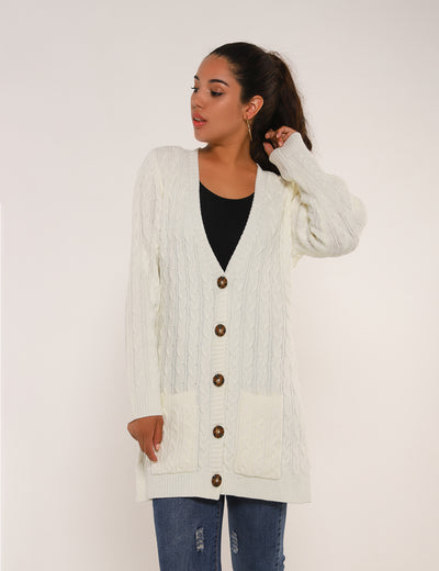 Blooming Jelly_Cozy Up Open-Front Cable Knit Cardigan_White_296092_19_Cozy Autumn&Winter Warm_Tops_Cardigan
