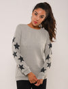 Dreamy Stars Sleeves Pullover Sweatshirt - Blooming Jelly