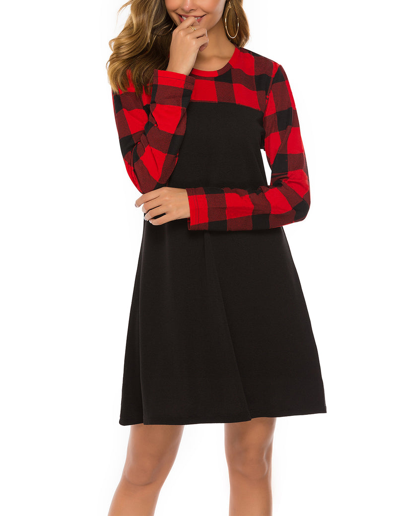 Alice Wonderland Checkered Plaid Mini Dress - Blooming Jelly