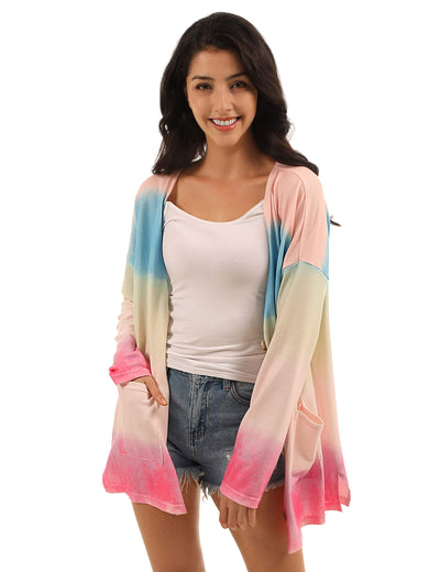 Fairy Tale Colorful Rainbow Tie Dye Cardigan - Blooming Jelly