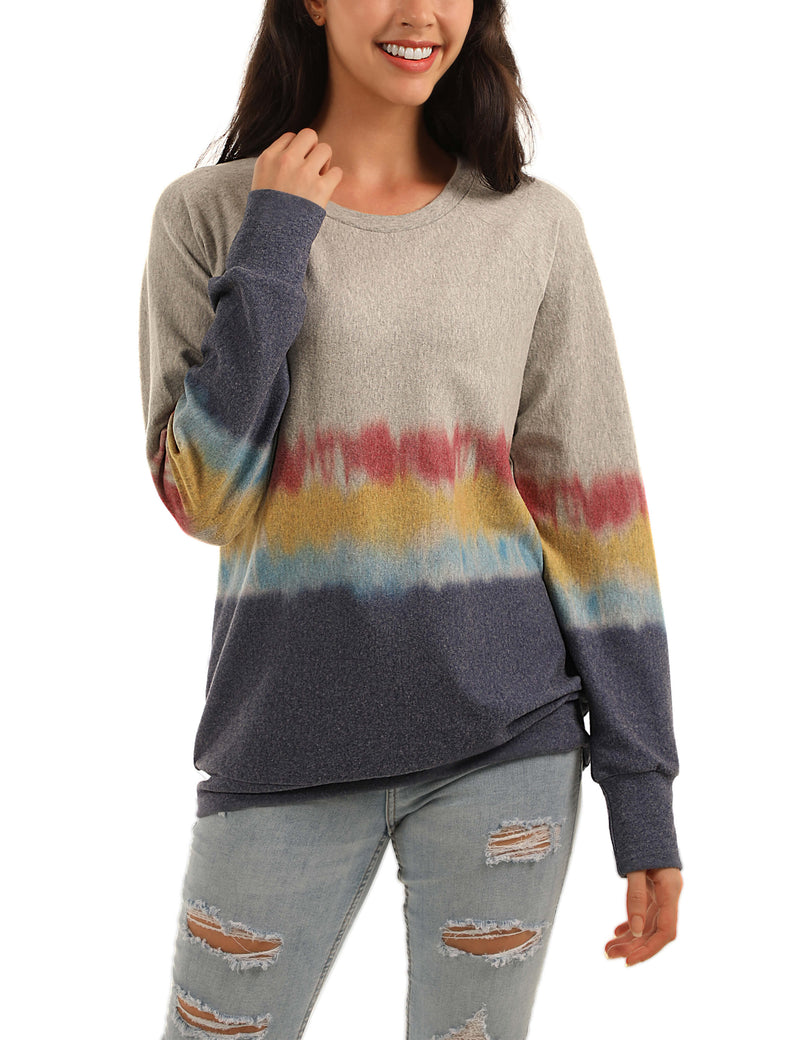 Colorful Life Tie Dye Color Block Sweatshirt - Blooming Jelly