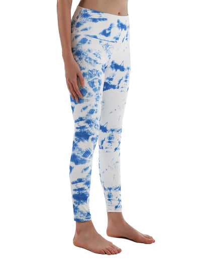 Blooming Jelly_Tie Dye High Waist Pocket Yoga Leggings_Blue&White Tie Dye_257008_51_Women Indoor&Outdoor Sportswear_Bottoms_Leggings