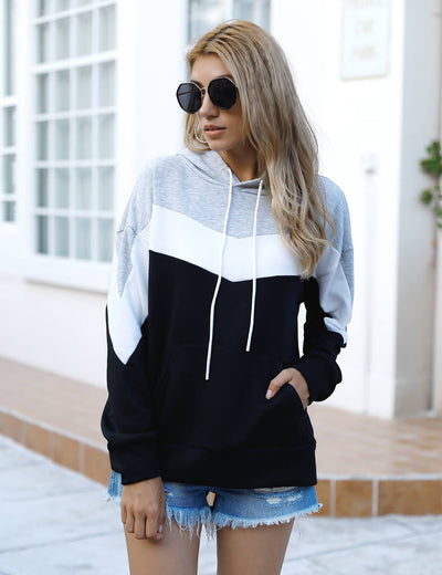 Blooming Jelly_Outdoor Casual Color Block Hoodie_Contrast Color_302052_21_Women Casual Street Wear_Tops_Hoodie