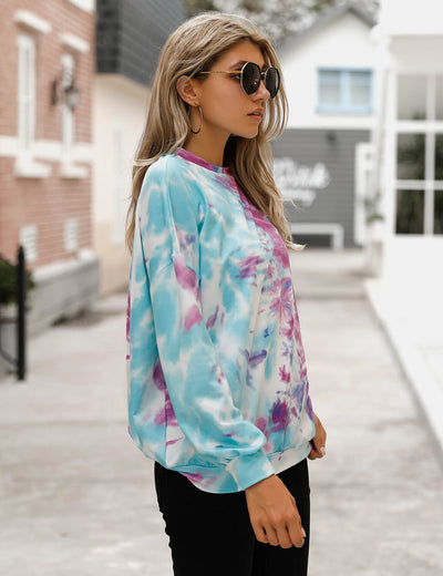 Blooming Jelly_Trendy Blue Tie Dye Sweatshirt_Tie Dye Print_302054_03_2020 Women Streetwear Fashion_Tops_SweatshirtBlooming Jelly_Trendy Blue Tie Dye Sweatshirt_Tie Dye Print_302054_03_2020 Women Streetwear Fashion_Tops_Sweatshirt