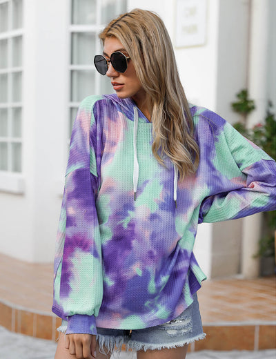 Blooming Jelly_Chic Purple Tie Dye Hoodie_Tie Dye Print_302055_21_2020 Women Streetwear Fashion_Tops_Hoodie