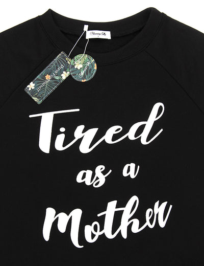 Blooming Jelly_Tired As A Mother Casual Sweatshirt_Letter Print Grahic Top_303089_02_Mom Style Casual Outfits_Tops_Sweatshirt