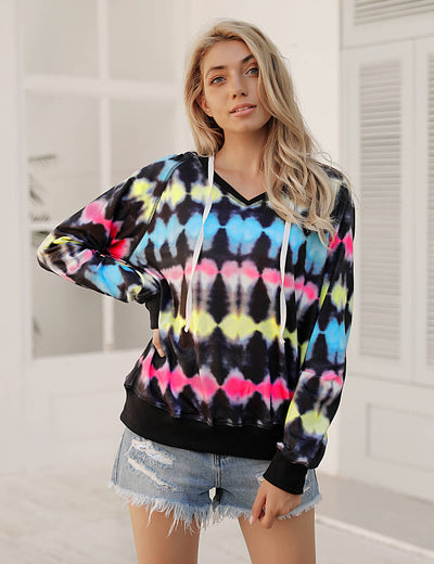Blooming Jelly_Multi-Color Tie Dye Hoodie_Multi-colors Tie Dyed_304001_51_2020 Women Fashion Top_Tops_Hoodie
