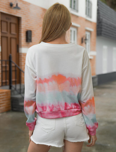 Blooming Jelly_Flattering Tie Dye Crop Sweatshirt_Tie Dye Print_304004_51_Street Style Women Fashion Outfits_Tops_Sweatshirt