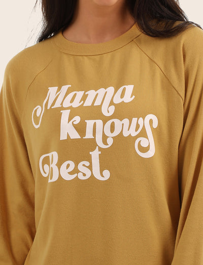 Blooming Jelly_Casual MAMA Letter Print Loose Sweatshirt_Yellow_304008_20_Oversized Women Comfy Daily Wear_Tops_Sweatshirt