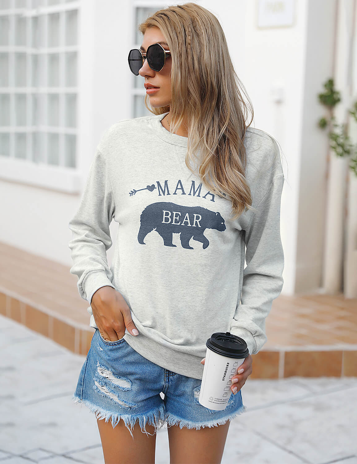 Blooming Jelly_Soft Mama Bear Sweatshirt_Letter Print Grahic Tee_304018_54_Mom Style Casual Outfits_Tops_Sweatshirt