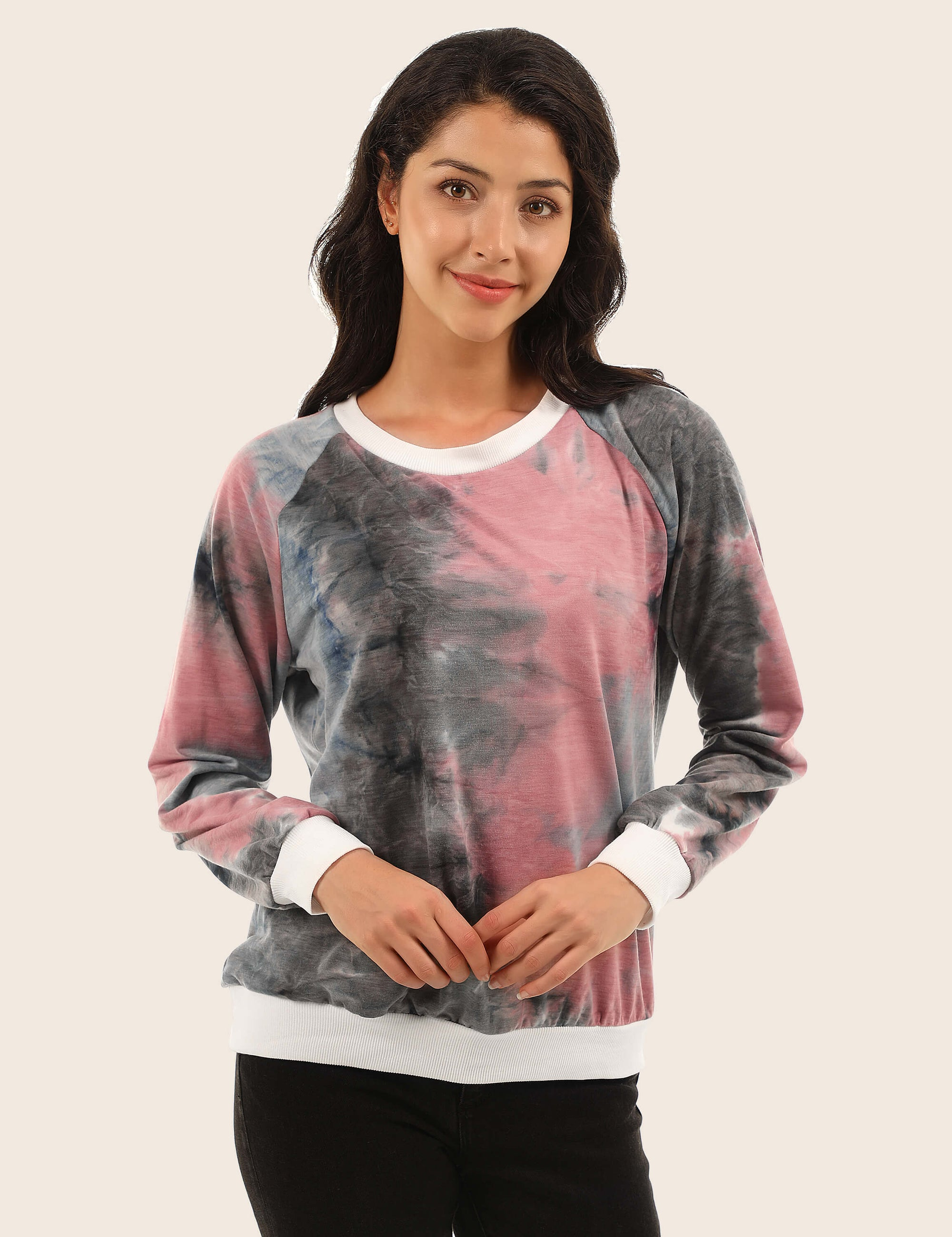 Blooming Jelly_Show Off Your Personality Tie Dye Sweatshirt_Tie Dye_304030_51_Stylish Women Autumn&Winter Outdoor Wear_Tops_Sweatshirt