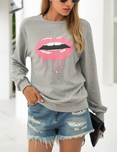 Blooming Jelly_Cozy Lip Print Pullover Sweatshirt_Lip Print_304040_07_WOmen Casual Street Wear_Tops_Sweatshirt