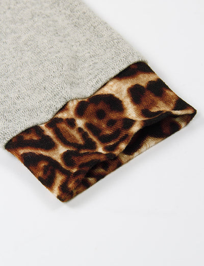 Wild Leopard Patchwork Pouch Pocket Hoodie - Blooming Jelly