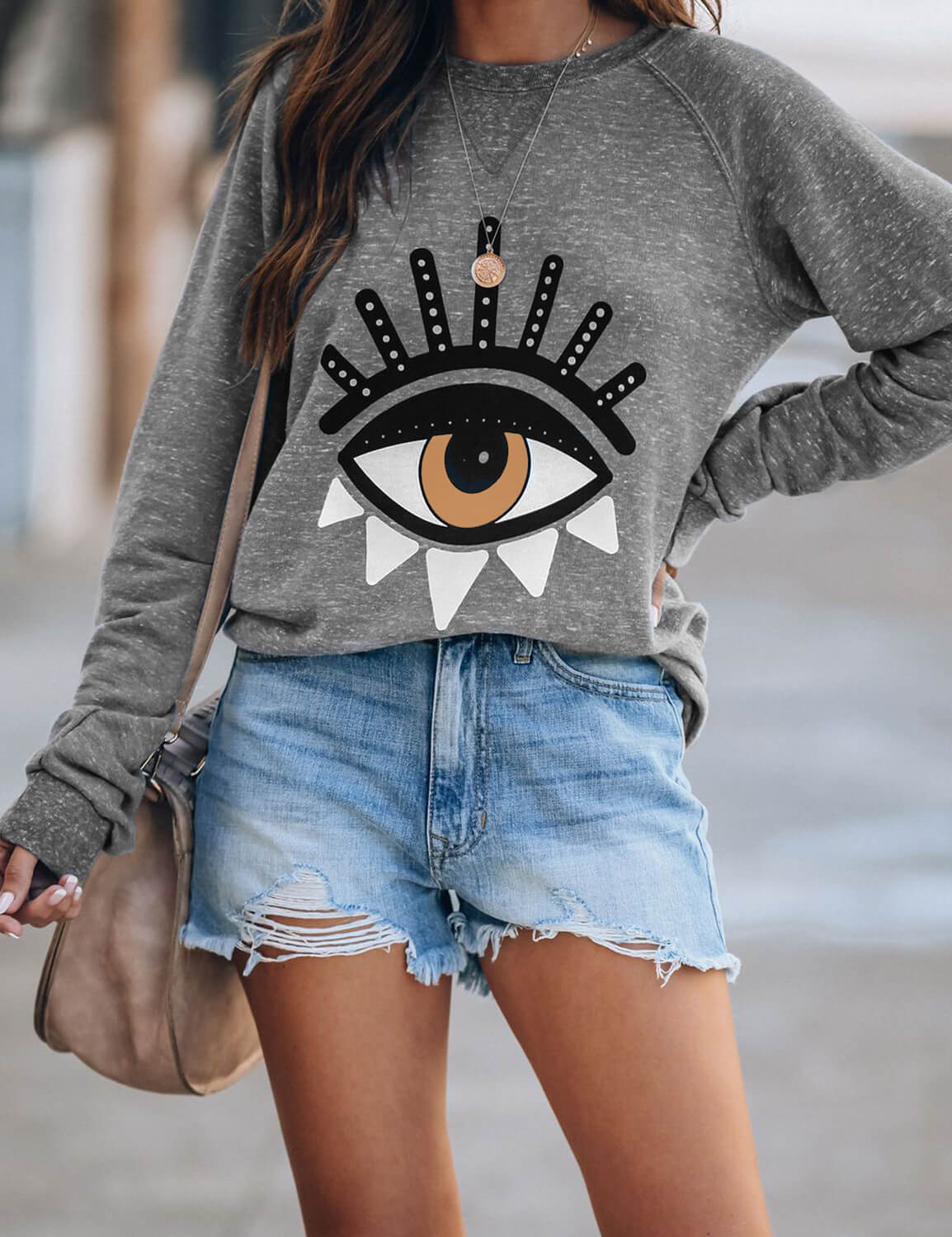 Blooming Jelly_Fun Eye Print Graphic Sweatshirt_Eye Print_305087_08_Young Style Women Outfits_Tops_Sweatshirt