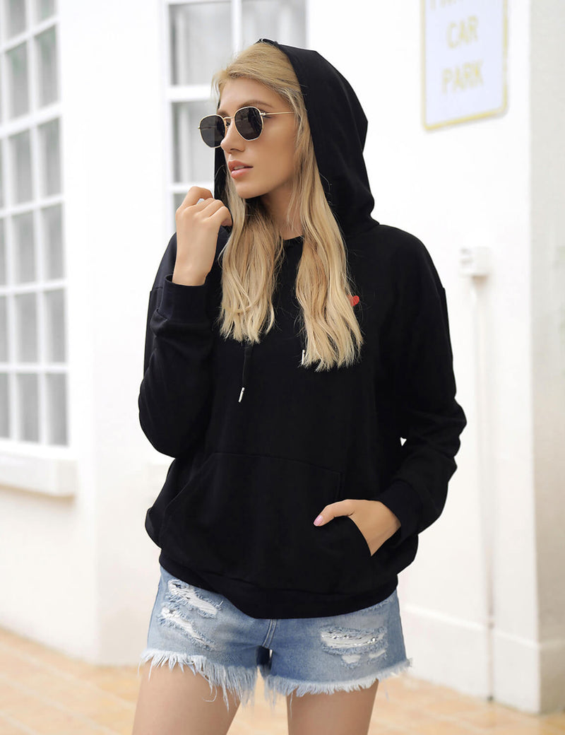 Blooming Jelly_Casual Heart Embroidery Hoodie_Black_305094_02_Fall Fashion Women's Outfits_Tops_Sweatshirt