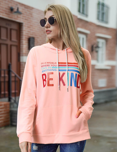 Blooming Jelly_Be Kind Letter Print Sweatshirt_Letter Print_306008_14_Street Style Women Fashion Outfits_Tops_Sweatshirt