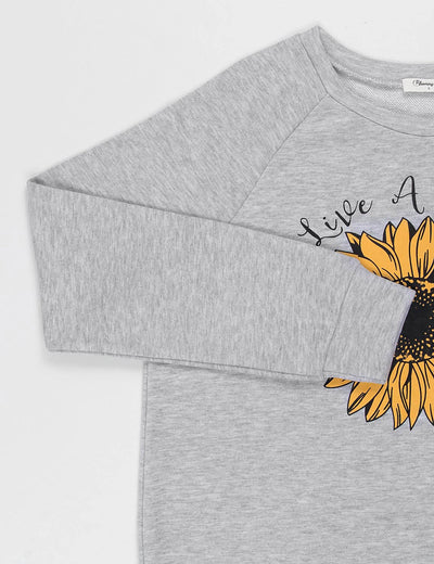 Live A Little Sunflower Sweatshirt
