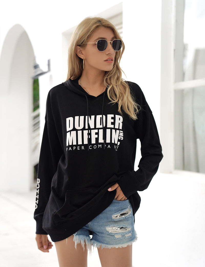 Blooming Jelly_Boy Friend Style Letter Print Oversized Hoodie_Letter Print_307039_02_Women Streetwear Fashion_Tops_Hoodie