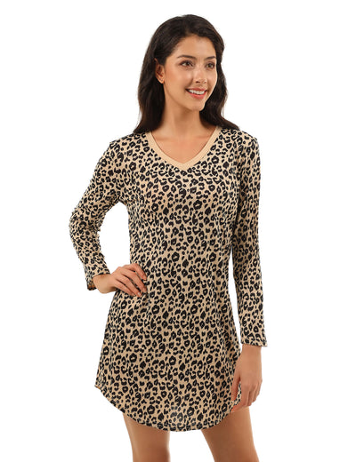 Wild Beauty Leopard V Neck Mini Dress - Blooming Jelly