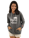 Cozy Mama Bear Print Pouch Pocket Sweatshirt