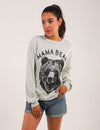 Blooming Jelly_Mama Bear Print Drop Shoulder Sweatshirt_Age Doesn't Matter Print_304007_54_Women Outdoor Casual_Tops_Sweatshirt