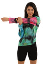 Individualized Tie Dye Print Sporty T-Shirt