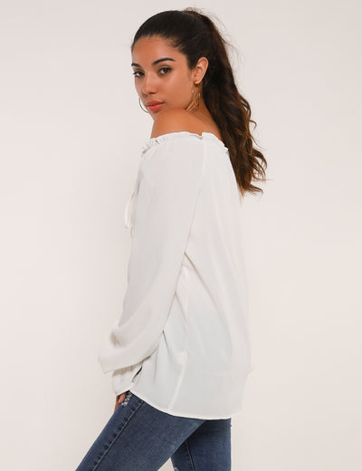 Brand New Life Off the Shoulder Blouse - Blooming Jelly