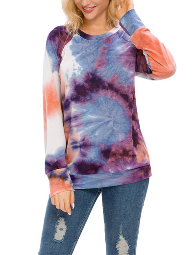 Cool Tie Dye Print Loose Sweatshirt