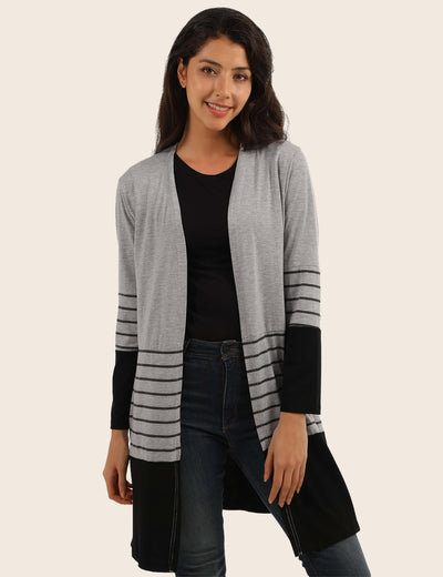 Cheerful Holiday Patchwork Pocket Cardigan