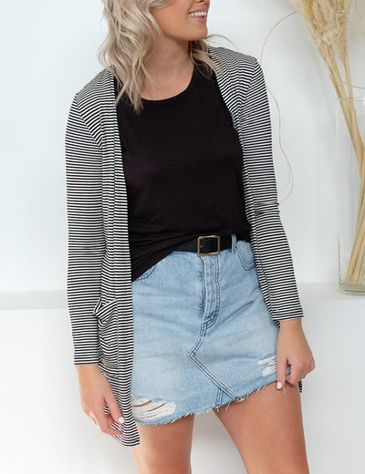 Striped Lover Choice Cardigan - Blooming Jelly