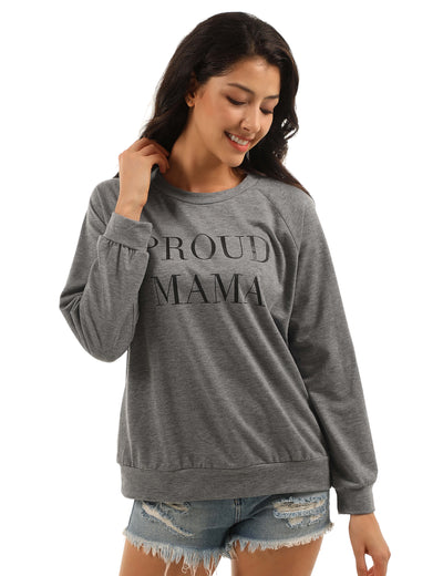 Blooming Jelly_Pround MAMA Letter Print Loose Sweatshirt_Letter Print Gray_306390_07_Women Autumn&Winter Daily Wear Long Sleeves_Tops_Sweatshirt