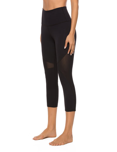 Mesh Pacthwork High Waist Yoga Leggings