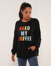 Blooming Jelly_Letter Print Pouch Pocket Pullover Sweatshit_Bear&Letter Print_304009_02_Women Autumn Daily Wear_Tops_Sweatshirt