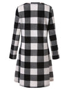 Blooming Jelly_Plaid Scoop Neck Long Sleeve Swing Mini Dress_White Plaid_142356_26_Autumn&Winter Outdoor Casual A-Line_Dress_Mini Dress