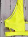 Side Cut-out Sports Swimsuit - Blooming Jelly