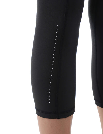 Reflective Dots Side Pockets Cropped Leggings - Blooming Jelly