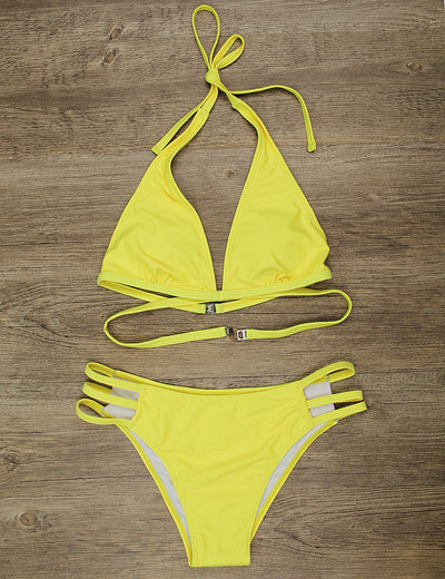 Dream Vacation Sexy Halter Bikini Set - Blooming Jelly