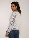 Blooming Jelly_Romantic Garden Floral Sleeves Loose Sweatshirt_Floral Print_303013_19_Casual Women Autumn&Winter_Tops_SweatshirtBlooming Jelly_Romantic Garden Floral Sleeves Loose Sweatshirt_Floral Print_303013_19_Casual Women Autumn&Winter_Tops_Sweatshirt